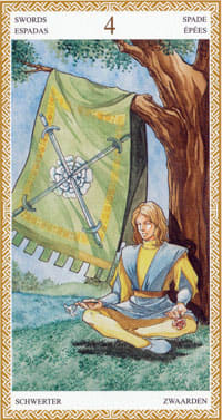 4 Of Swords Tarot Card Meanings Tarot Elements The journey of the pentacles tarot cards. 4 of swords tarot card meanings