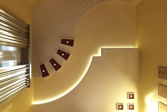 False Ceiling Design Ideas Images Inspirations Kraftivo   False Ceiling On Stairs   Angled   Low Budget   Tv Lounge Ceiling   Residential   Simple