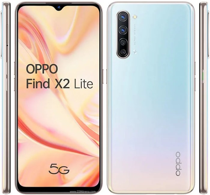 Oppo Find X2 Lite design