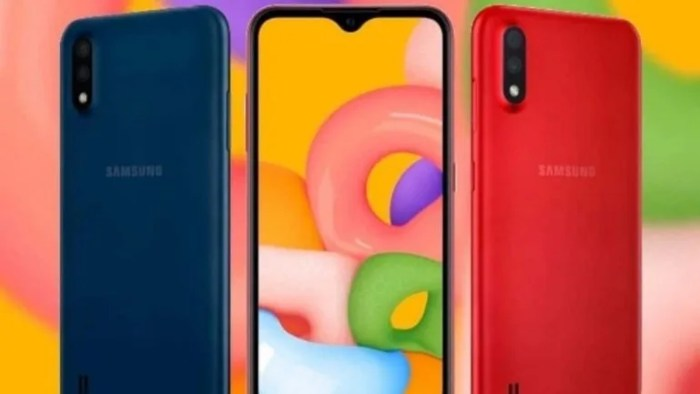 Galaxy M01 colors