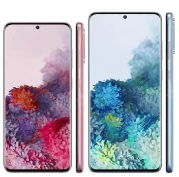 Samsung Galaxy S20 and S20+ image side by side