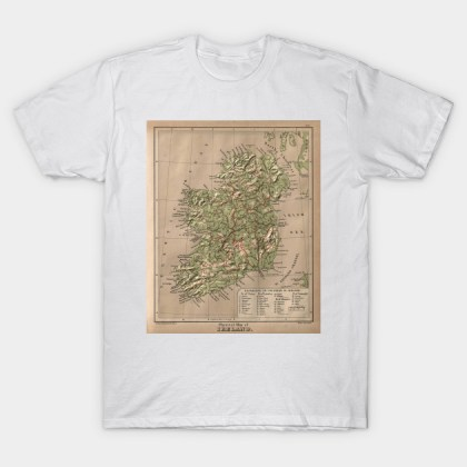 Vintage Physical Map of Scotland  1880    Scotland Map   T Shirt     2024113 1