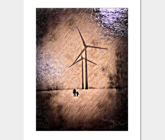 Windmills Of Change Abstract Art Painting