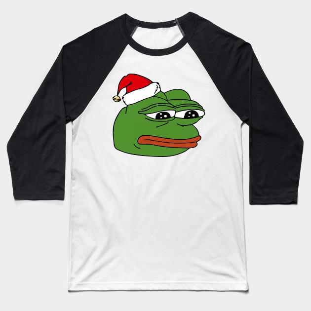 Merry Christmas Frog Pepe Meme Happy New Year Baseball T Shirt
