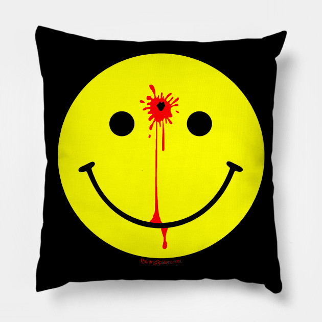 smiley face with a bullet hole have a nice day