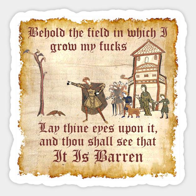 Behold The Field Medieval Dank Meme Behold The Field Sticker