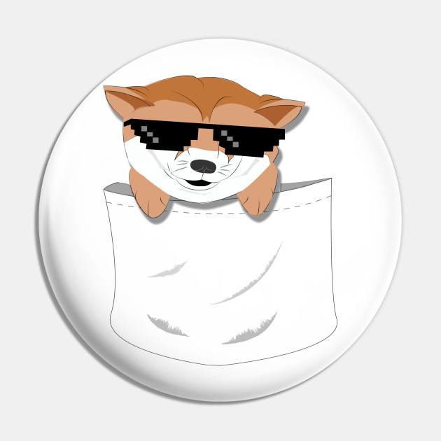 Deal With It Doge Meme In Pocket Meme Pin Teepublic