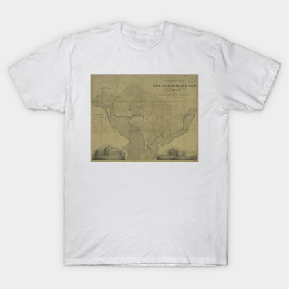 Vintage Map of Washington D C   1820    Washington Dc Map   T Shirt     2264161 1