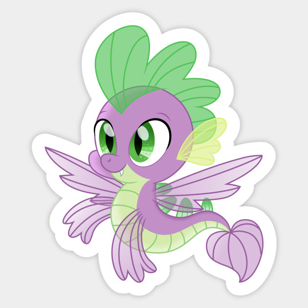 Seadragon Spike My Little Pony Sticker Teepublic