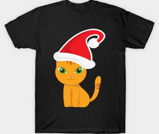 Funny Xmas Cat Christmas Kitten T Shirt