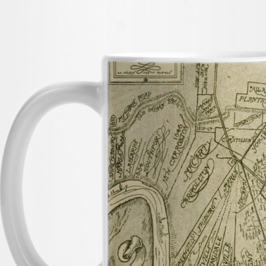 HD Decor Images » Vintage Map of New Orleans Louisiana  1919    New Orleans Map   Mug     2042412 1