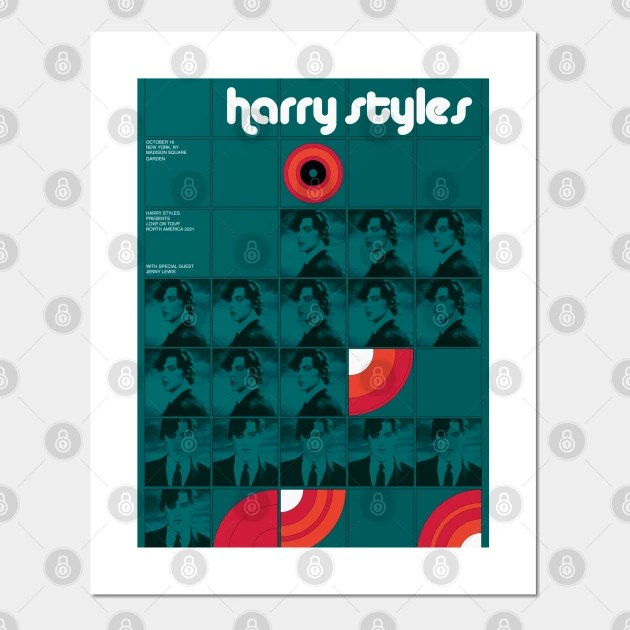 harry styles love on tour 70s poster