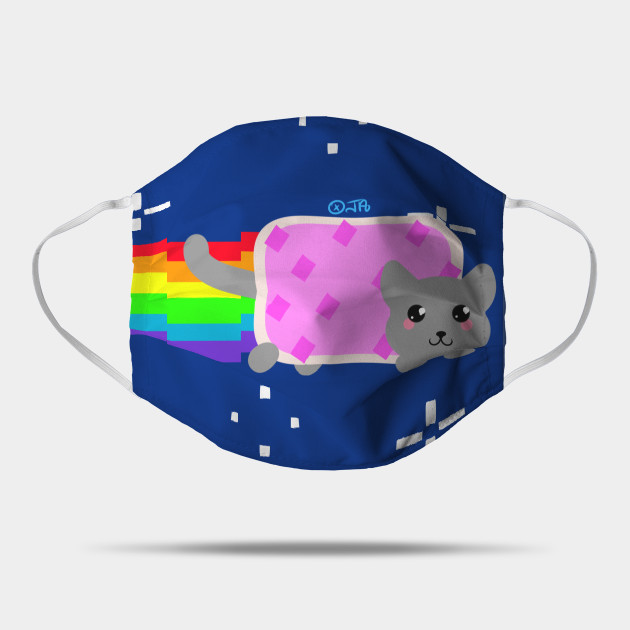 Nyan Cat Nyan Cat Rainbow Mask Teepublic