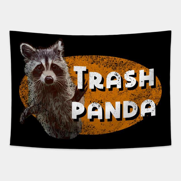 Funny Meme Trash Panda Racoon Wildlife T Shirt Racoon Tapestry