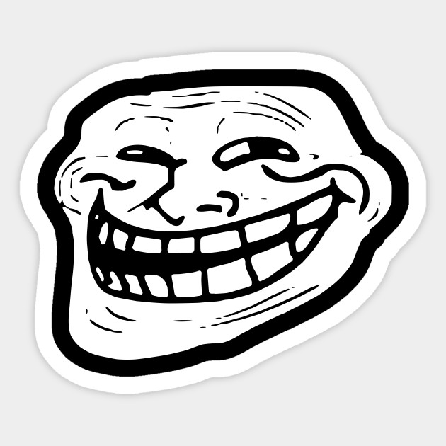Troll Face Meme Gamer Web Geek Funny Mens Loose Fit Cotton Meme T
