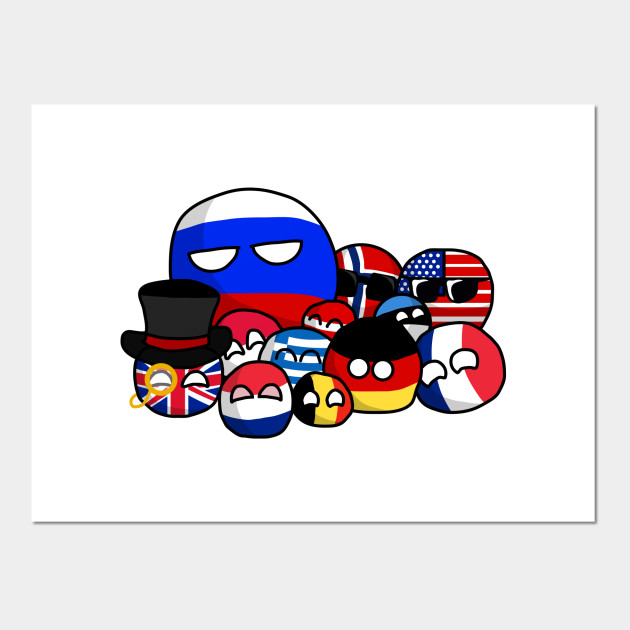 Eu Looking And Uk In Countryballs