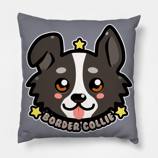 kawaii chibi border collie dog face
