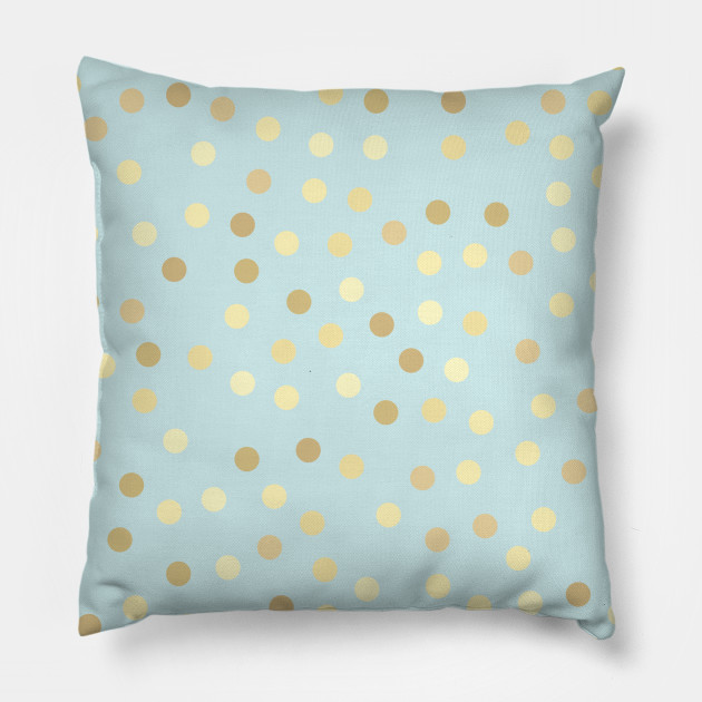 gold polka dot pillow online