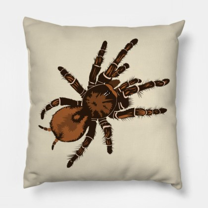 Goliath Bird Eating Spider   Spider   Pillow   TeePublic 1003944 1