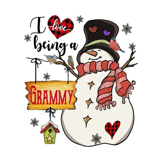 Download Grandma Gifts I Love Being A Grammy Snowman Matching ...