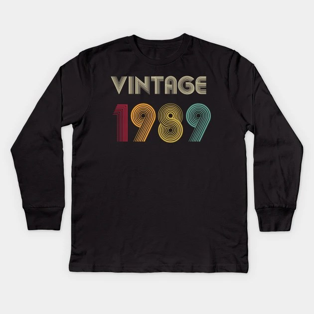 30th Birthday Gift Vintage 1989 Shirt For Women Men Women Classic Retro Color 30th Birthday Gift Ideas 1989 T Shirt Tee Gifts From Daughter 30th Birthday Gift Vintage 1989 Kinder Long