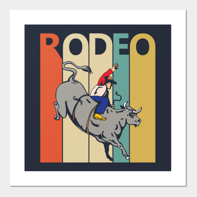 vintage rodeo bull riding
