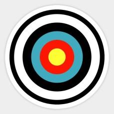 Bullseye Archery Target Shooter Rings - Target Archery - Sticker ...
