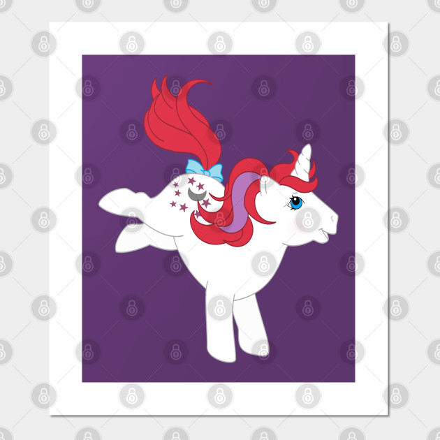 G1 My Little Pony Unicorns Front And Back Print G1 My Little Pony Posters And Art Prints Teepublic