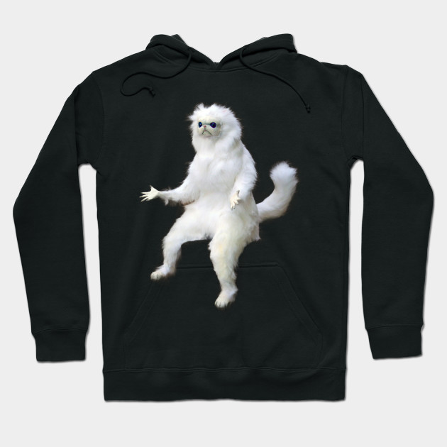 White Cat Cat Meme Cat Hoodie Teepublic