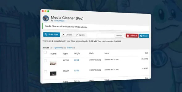 Media Cleaner Pro 6.0.5 - New - Cleans Media Library and Uploads Directory - Thinkingfunda - Media Cleaner Pro