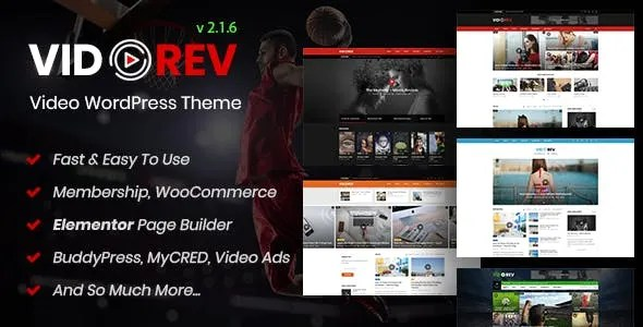 VidoRev 2.9.9.9.7.5 New - Video WordPress Theme - Thinkingfunda - VidoRev