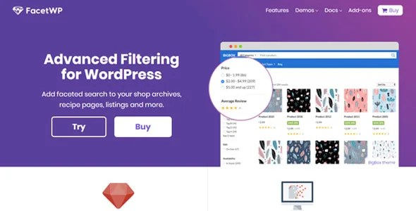 FacetWP 3.6.4 + Full Addons - Filtering and Faceted Search Wordpress Plugin - Thinkingfunda -