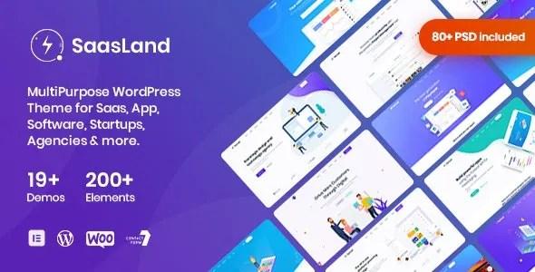 SaasLand 3.2.6 Nulled - MultiPurpose WordPress Theme