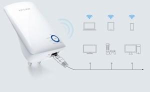WiFi Range Extender: TP-LINK TL-WA850RE (300Mbps)