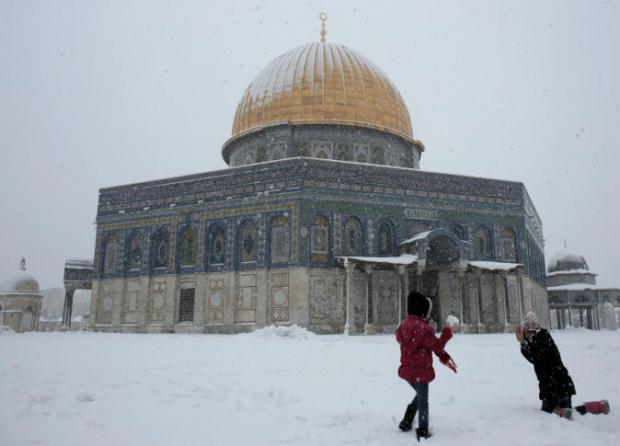 Salju-Yerusalem-kubah-as-sakhrah