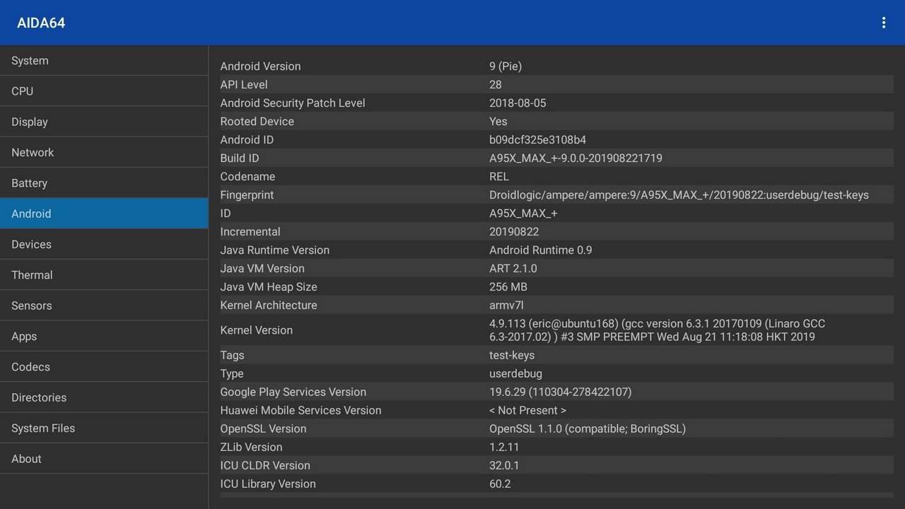 النظام وأداء جهاز A95X MAX Plus_4