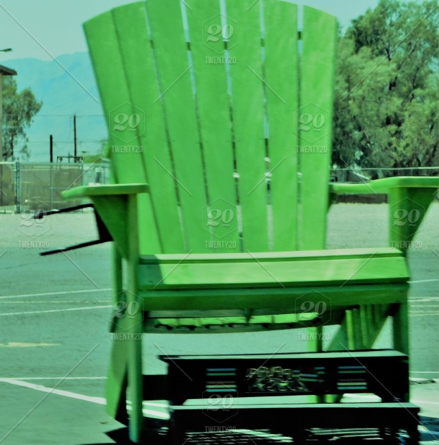 giant pastel green patio chair a
