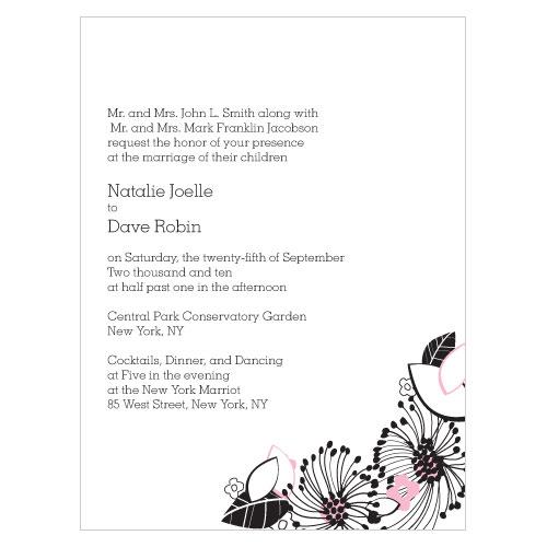 Floral Fusion Invitation