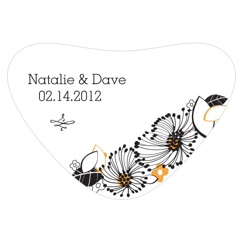 Floral Fusion Heart Container Sticker Harvest Gold