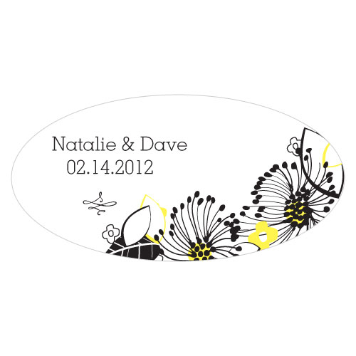 Floral Fusion Large Cling Lemon Yellow