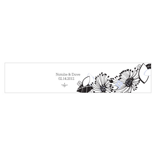 Floral Fusion Water Bottle Label Lilac