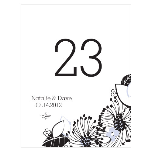 Floral Fusion Table Number Numbers 61-72 Lilac