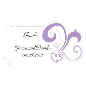 Heart Filigree Diecut Sticker Lavender