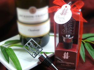 Double Happiness Shuang Xi Bottle Stopper In Harmony Gift Box Wine Favors