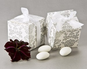 Classic Damask Square Favor Box 24 Pack Favor Boxes