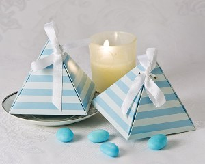Something Blue Pyramid Favor Box 24 Pack Favor Boxes