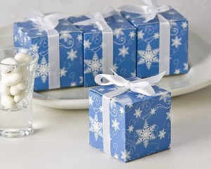 Winter Wishes Snowflake Favor Box 24 Pack Favor Boxes