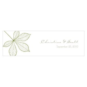 Autumn Leaf Small Rectangular Tag Willow Green