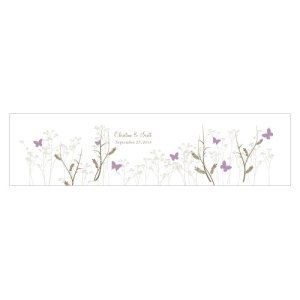 Romantic Butterfly Cube Favor Box Wrap Lavender