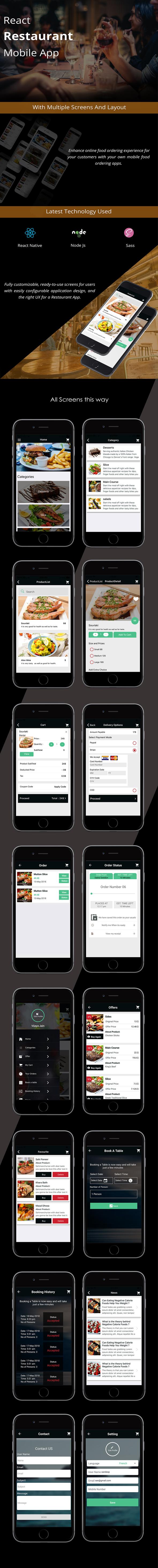 React Native Restaurant Mobile App - 1